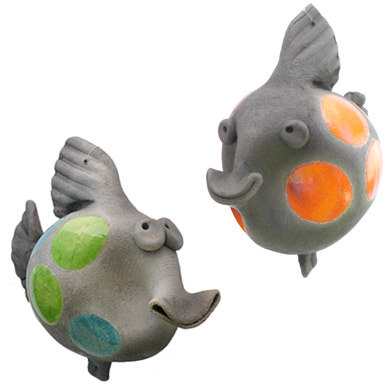 Pottery Coy Fish
