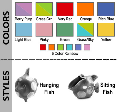Examples of colors and styles