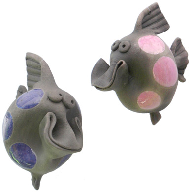Pottery Grinning Fish