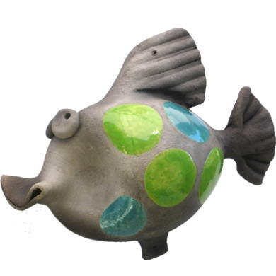 Medium Pottery Coy Fish