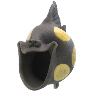 Medium Pottery Laughing Fish