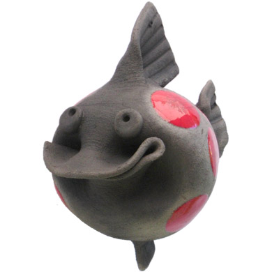 Medium Pottery Smiling Fish