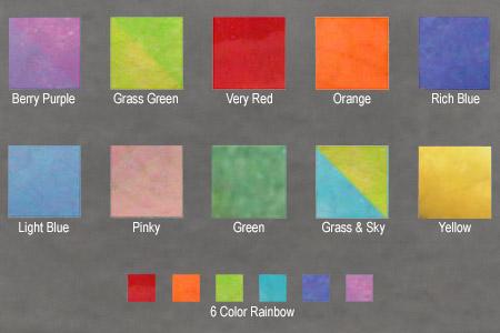 Pallette of glaze colors for Happy Raku Fish