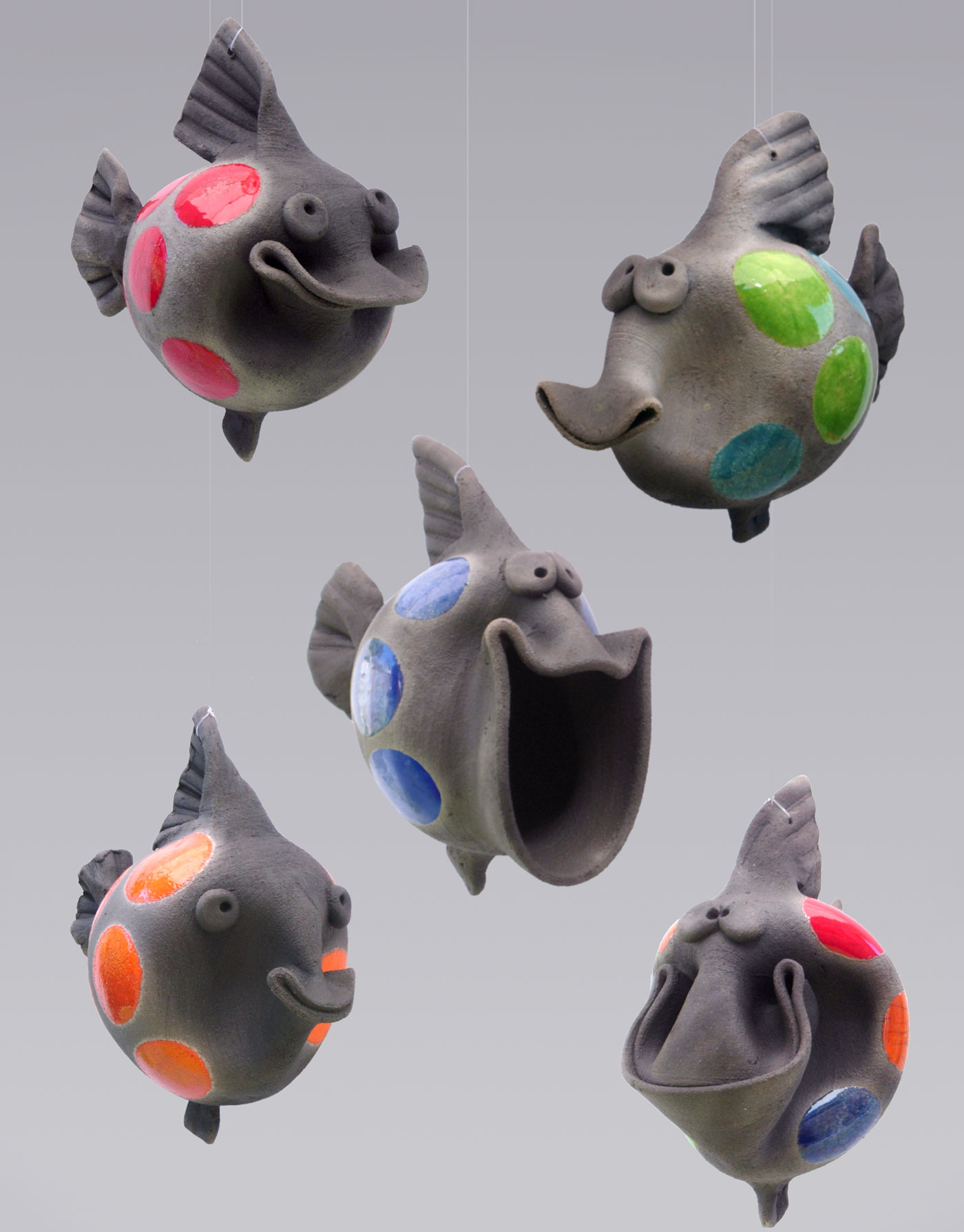 School of Raku Ceramic Fish