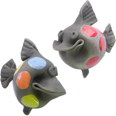 Smiling Pottery Fish